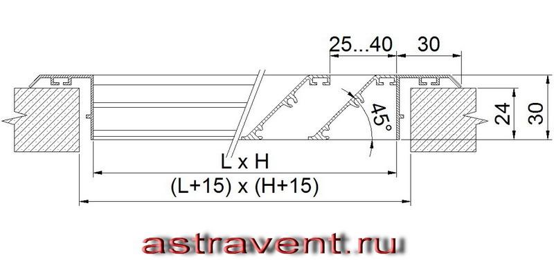 Схема фасадной решетки АВ1