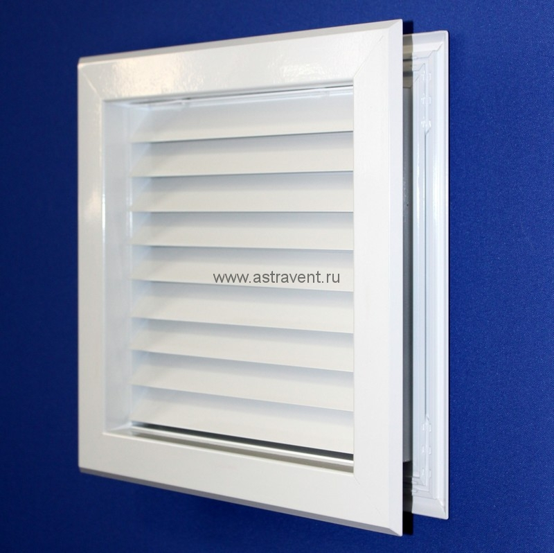 вентиляционная решетка дверная - обратная сторона под углом