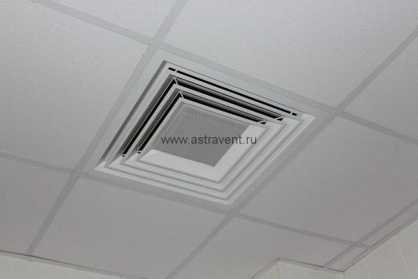 Анемостат АВ4П имеет минимально видимые соединительные элементы