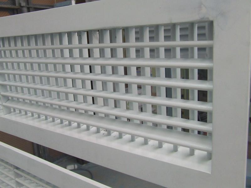 Двухрядные чужие белые решетки в перекраску