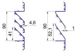 Фасадная решетка схема