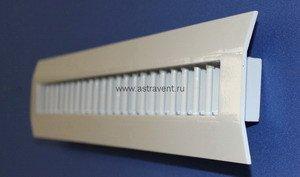вентиляционная решетка для ломаной поверхности