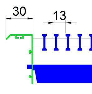 АВН2 - напольная решетка со вторым рядом жалюзи
